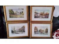 4 Eric Thompson Framed Pictures Of Areas in Darlington From years gone by
