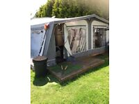 Sterling vitesse caravan in good condition no damp full awning and many extras