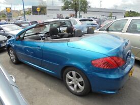 PEUGEOT 307 CC 1587cc S CONVERTIBLE 2005-55, LOOK ONLY 97K FROM NEW AND 2 FORMER KEEPERS,