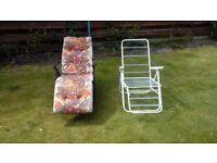 2 reclyning garden chairs