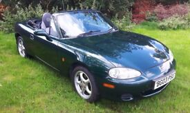 STUNNING LOW MILEAGE 2003 Mazda MX5 1.8L MOT to 31/07/2018