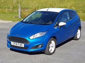 Low Mileage 2016 Ford Fiesta 1.25 'Blue' Zetec, Bluetooth Music/Phone, Aircon, Direct From Main De..