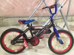"""16"""" spiderman bike and radio flyer scooter"""