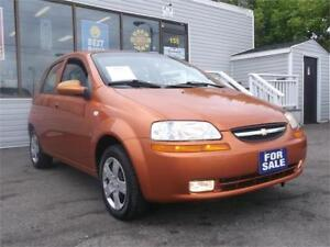 2007 CHEVROLET AVEO LS * ONLY 82,000 KMS * AC * MP3 COMP !!!