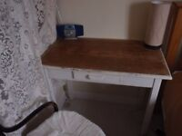"""Old Pine desk/table with drawer 36"""" wide x 21"""" deep."""