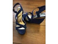 Office blue wedges Size 7