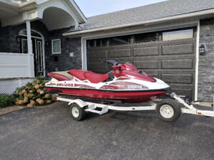 2001 Bombardier Seadoo LRV Limited 4 seater with trailer