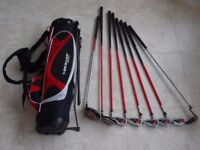 Junior golf clubs plus bag