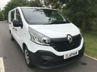2015 15 RENAULT TRAFIC CREW VAN 1.6DCI LL29 BUSINESS SAT NAV AIR CON UK DELIVERY