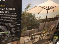 Haversham 6 piece garden furniture set BNIB