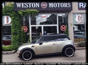 2007 MINI Cooper S S*6SPEED*POWER GROUP*LEATHER*BLUETOOTH*