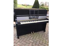 John Broadwood &sons satin black upright piano