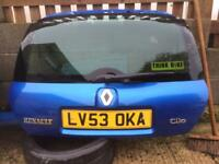 Renault Clio 172 182 cup sport boot lid tail gate mondial blue