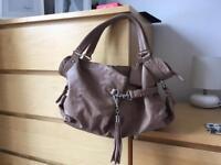 Tan Leather 'bagsac' handbag