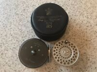 Vintage Hardy Princess 3.5 inch Trout Fishing Fly Reel, Original Case and Spare Spool