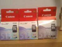Unused Genuine Canon Pixma Cartridges