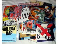 "Hip-Hop 7"" Singles x 50 (All Listed) Most In Picture Sleeves"