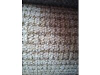 beige fleck berber carpet on a felt back 5m x 4m