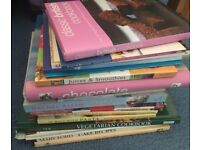 Cook books and baked and delicious mags