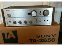 Vintage Sony TA-2650 Integrated Amp & Original Box