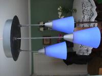 IKEA TRETAKT ceiling pendant lamp. Lovely Blue frosted glass shades - UNUSED & BOXED