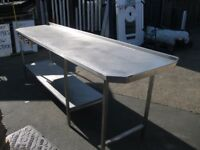 1 Stainless Steel Table Good Condition, Ready To Be Re Used! (2900 wide/930 tall/700 deep)