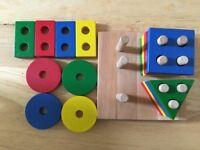 Plan geometric shape sorter