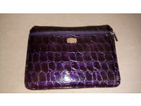 J by Jasper Conran Faux Croc Effect Laptop Bag (Dark Purple)