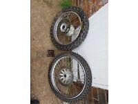 Honda xr125 wheels and tyres
