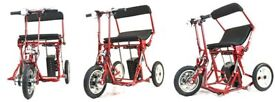 Amazing self folding mobility disabilty scooter, lightwieght folds at the touch of a button mo