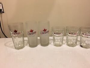 Molson Canadian Beer Glasses. 6 of them