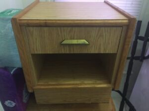 Solid wood side table - EUC