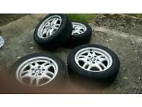 BMW alloy wheels very good condition.