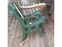 Set of 2 cast bench ends