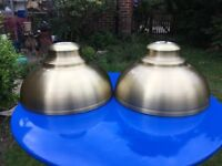 2 new (never used) brass effect lamp shades.
