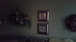 Home Decor-wreath, hanging floral, pictures
