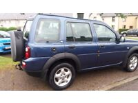 land rover freelander in real good conditionhas done approx 12000 mls in the last 5 years mot sep