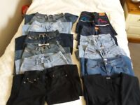 12 pairs of Girls/womens vintage jeans all worn but still wearable