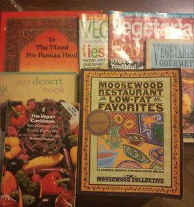 5 Vegetarian / Vegan Cookbooks and 2 Veg Magazines