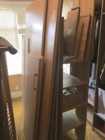 Single Bunk/Captains Bed w/ Desk and Cupboard