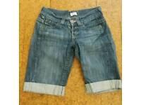 Women's Topshop Moto Denim Shorts, size 10
