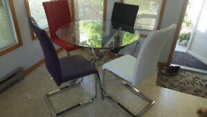 Done Deal!  Modern Glass top dining
