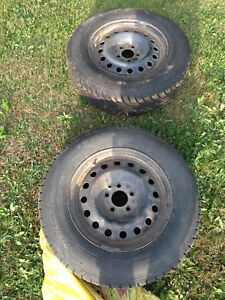215/70/16 Studded tires on rims
