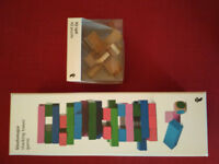 Jenga and iq quiz game (wooden)