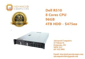 Dell R510 – 2x Intel Xeon Quad Core E5530 2.4 GHz, 96GB, 4TB