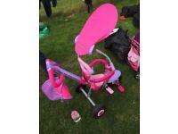 Pink and purple smart trike