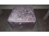 Velvet lilac foot stool