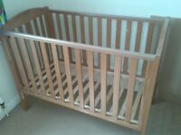 Wooden Cot & Changing Table