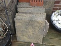 Paving slabs 25 full size/25 half size