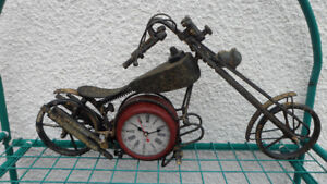 Chopper Motorcycle Clock $30